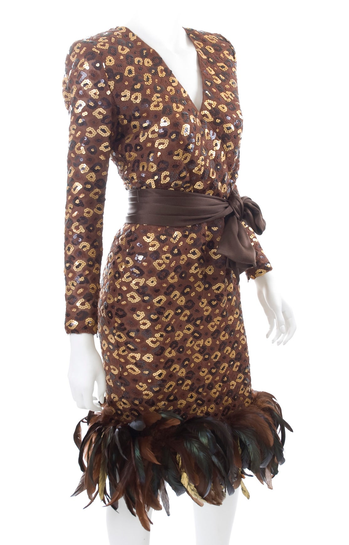 1986 Givenchy Dress with Sequins and Feathers 3