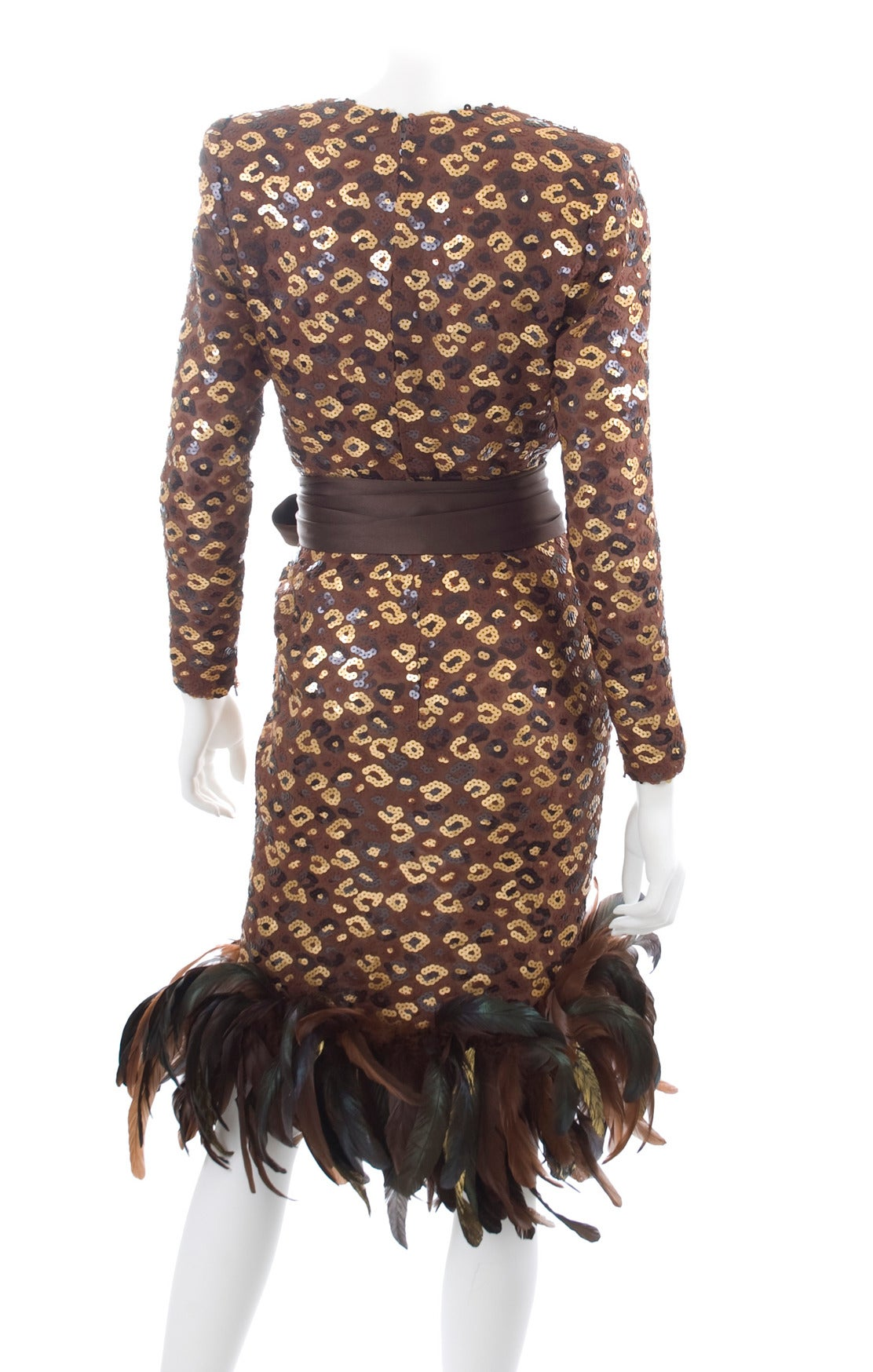 1986 Givenchy Dress with Sequins and Feathers 6