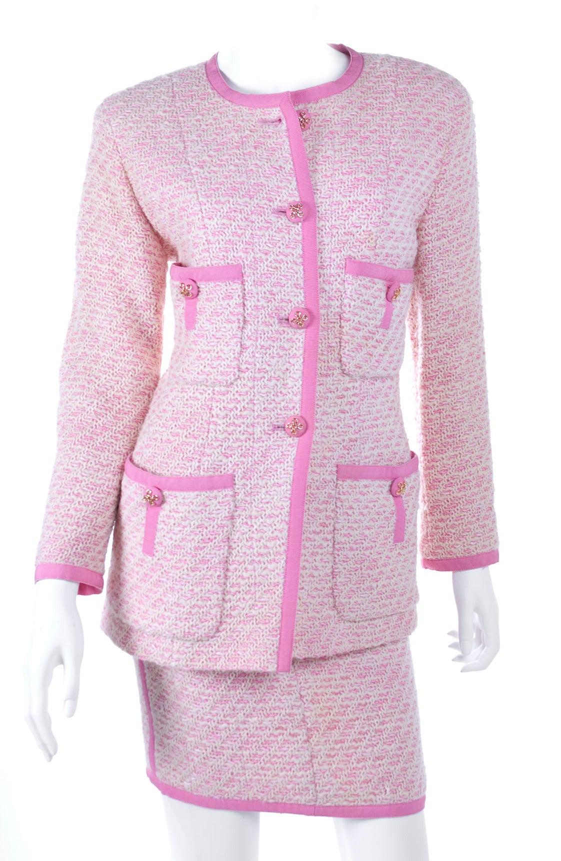 Chanel Suit in Pink and Creme Documented 1