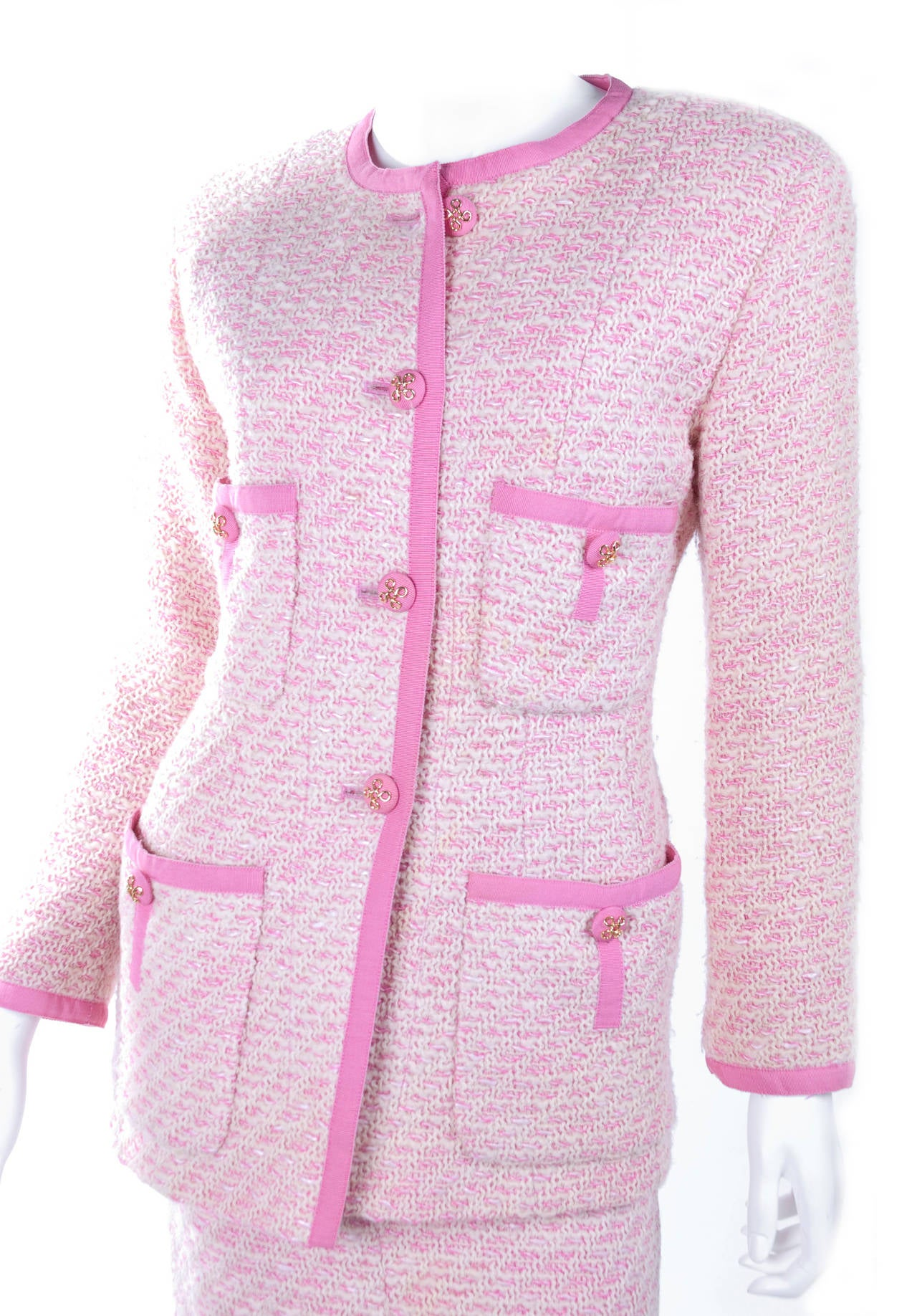 Women's Chanel Suit in Pink and Creme Documented