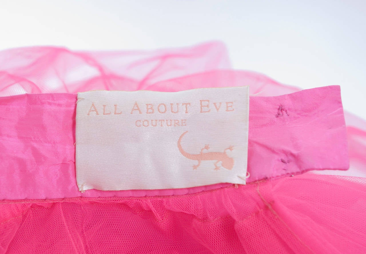 All About Eve Couture by Talbot Runhof Tulle Skirt 9