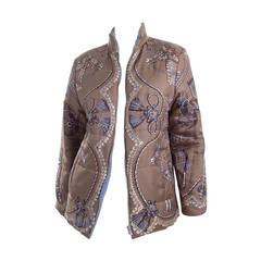 Hermes Reversible Silk Puffer Jacket