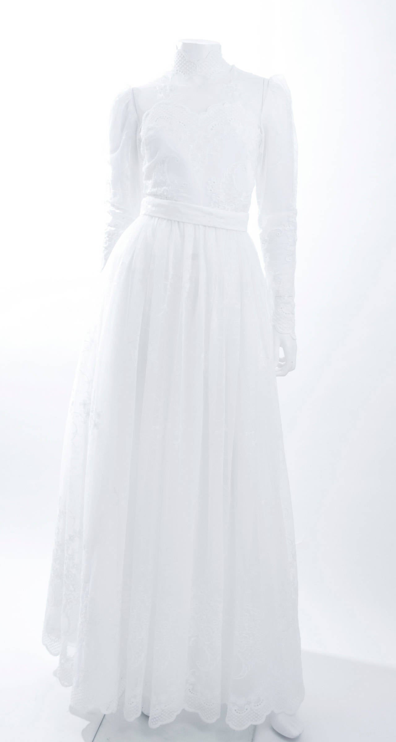 80's Jacques Heim Wedding Gown 2