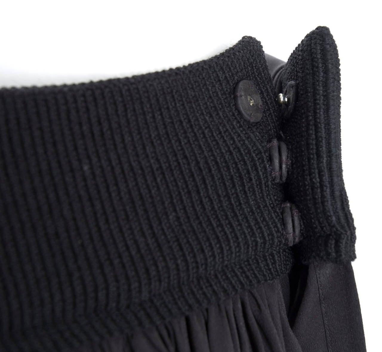 90's Yohji Yamamoto Black Silk Wrap Skirt 5