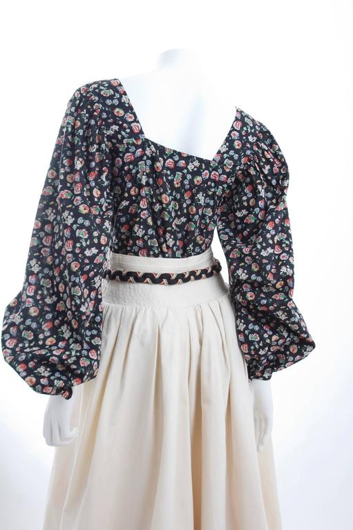 Yves Saint Laurent Gypsy Skirt and Blouse 4