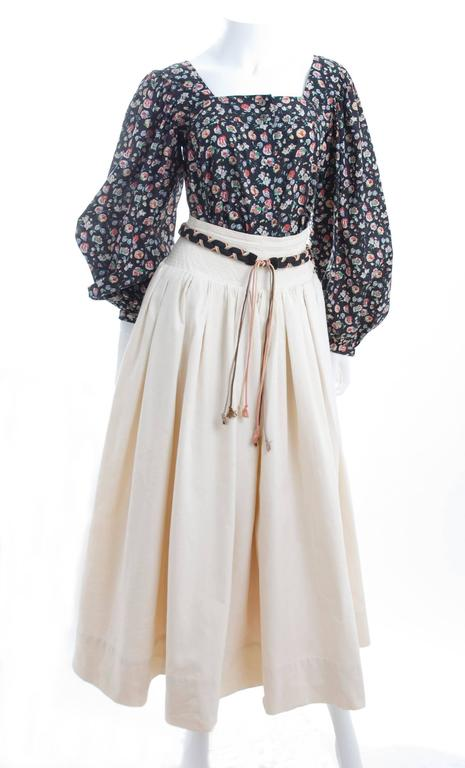Yves Saint Laurent Gypsy Skirt and Blouse 5