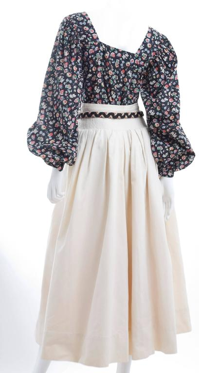 Yves Saint Laurent Gypsy Skirt and Blouse 7