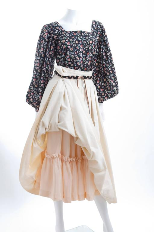 Yves Saint Laurent Gypsy Skirt and Blouse 6