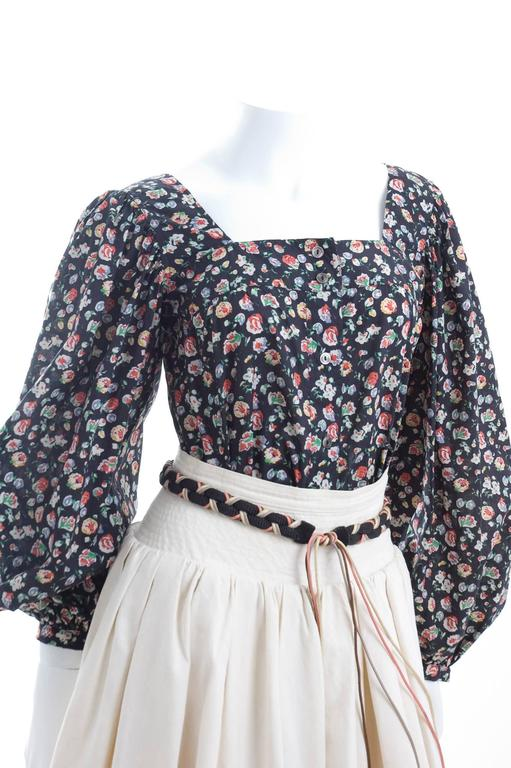 Yves Saint Laurent Gypsy Skirt and Blouse 3