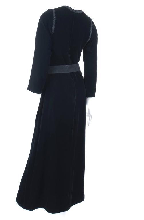 70's Yves Saint Laurent Velvet Dress with Belt 5