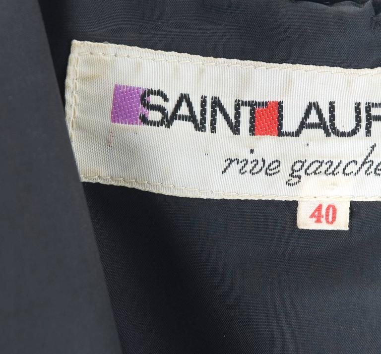 70's Yves Saint Laurent Velvet Dress with Belt 6