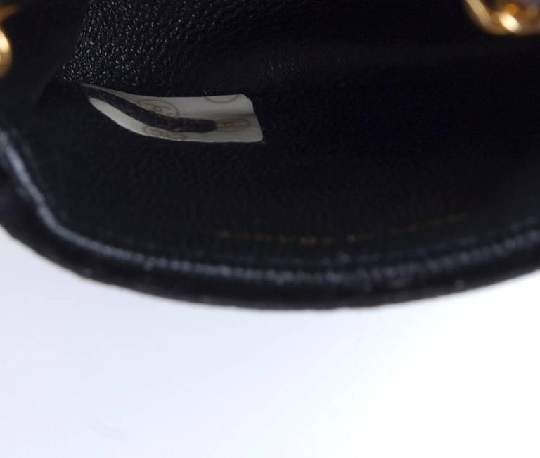 Rare Vintage Chanel Micro Mini Black Velvet Gold HW Flap Bag 8