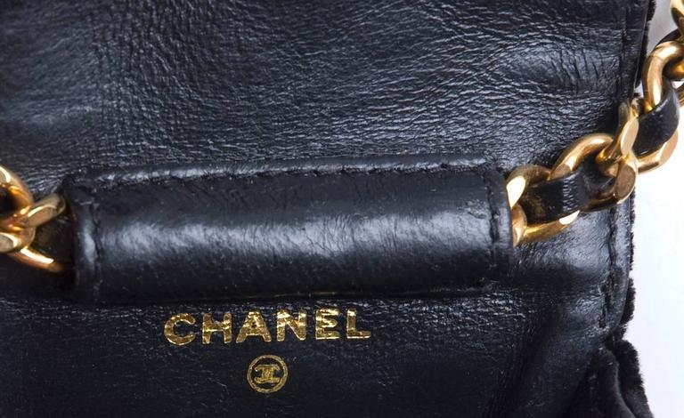 Rare Vintage Chanel Micro Mini Black Velvet Gold HW Flap Bag 7