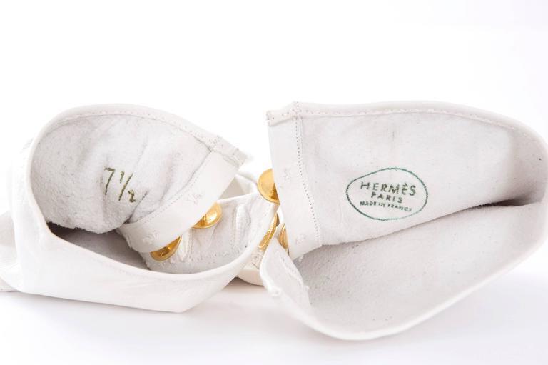 90's Hermes Leather Gloves - like new. 5