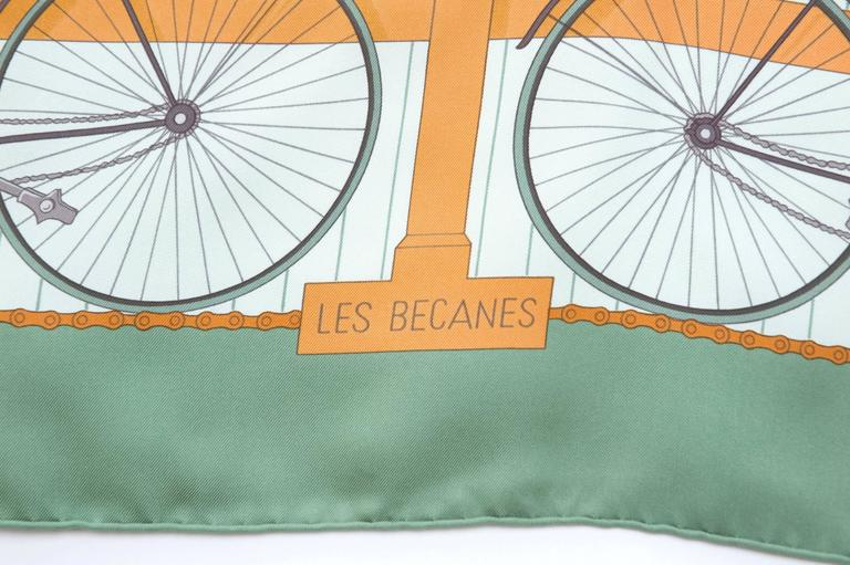 Women's Hermes 1950s 'Les Becanes' Hermes Silk Scarf For Sale