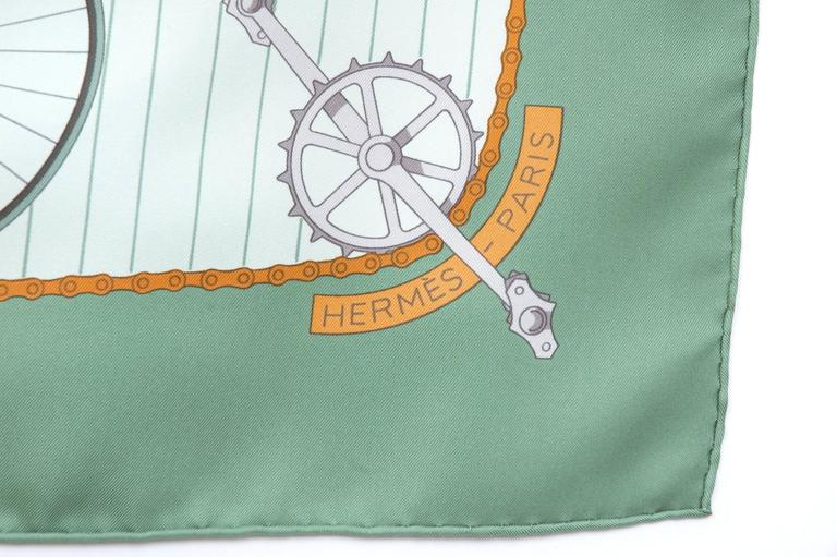 Hermes 1950s 'Les Becanes' Hermes Silk Scarf For Sale 1