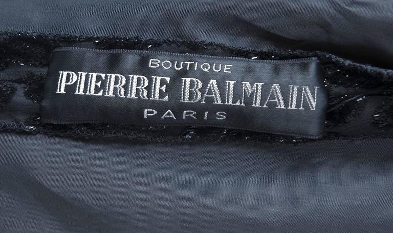 Pierre Balmain Burnout Paisley Velvet Cocktail Dress 7