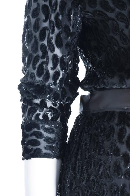 Pierre Balmain Burnout Paisley Velvet Cocktail Dress 4