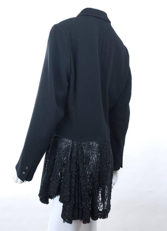 vintage comme des garcons black jacket with amazing lace detail for sale at 1stdibs. Black Bedroom Furniture Sets. Home Design Ideas