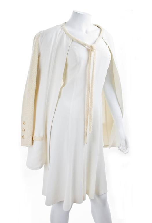 CHANEL Spaghetti Strap Dress & Jacket in Creme & Yellow 2