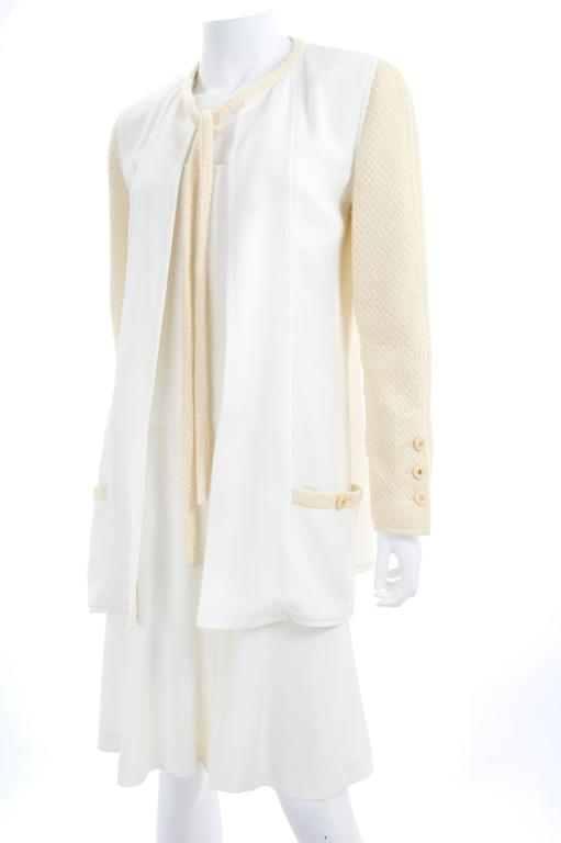 CHANEL Spaghetti Strap Dress & Jacket in Creme & Yellow 6