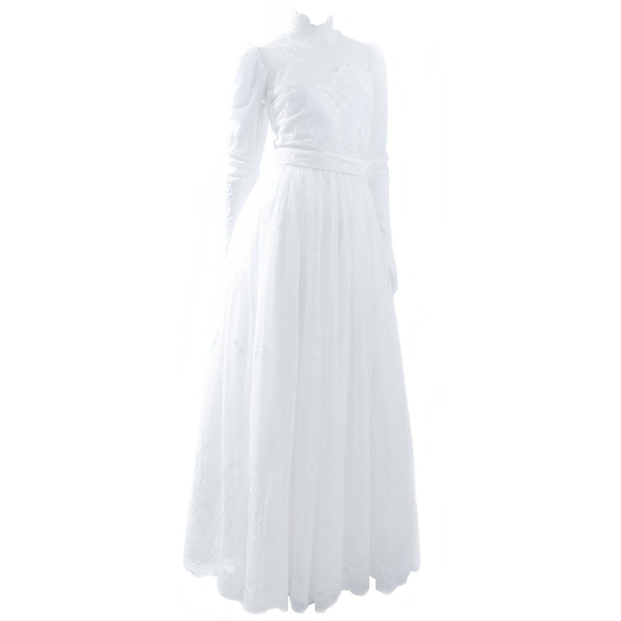 80's Jacques Heim Wedding Gown 1