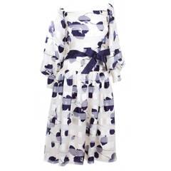 1980s Arnold Scaasi Couture Silk Chiffon Dress