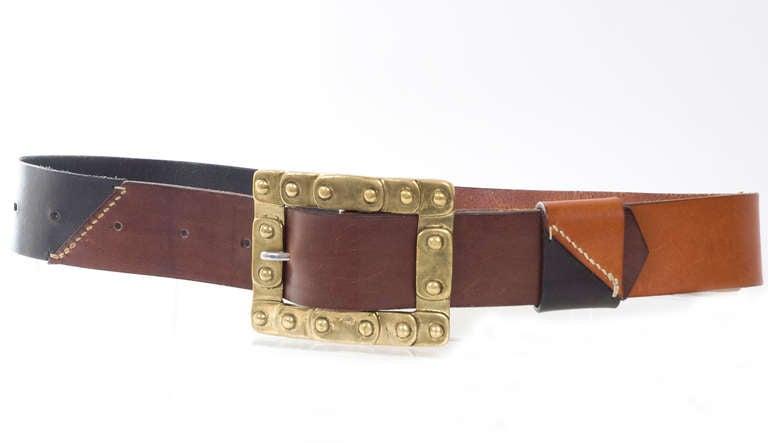 70 quot s jil sander leather belt at 1stdibs