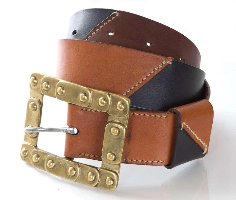 70 quot s jil sander leather belt for sale at 1stdibs