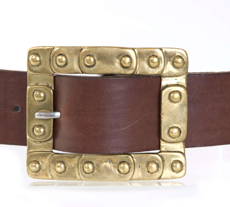70 S Jil Sander Leather Belt In Black And 2 Brown Shades