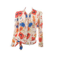 "80""s Chloe Silk Blouse with Scarf."