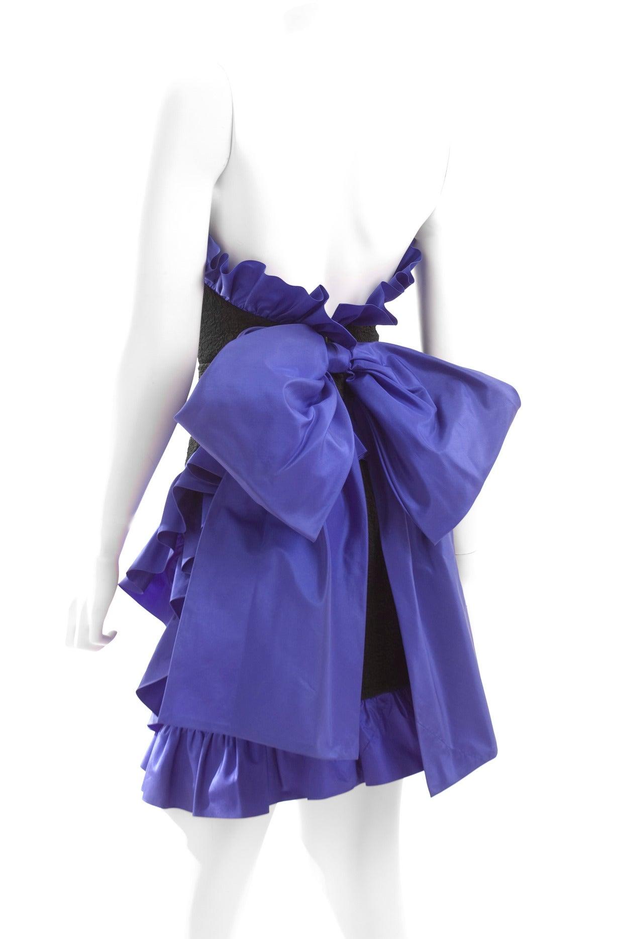 1987 Yves Saint Laurent Cocktail Dress 7