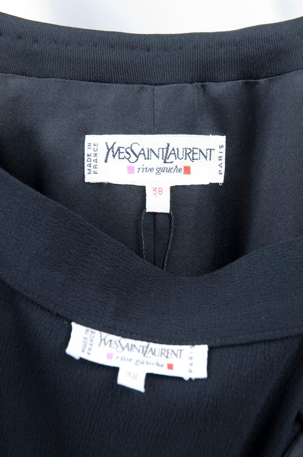 Rare Vintage Yves Saint Laurent Ensemble with Lesage Embroidery 10
