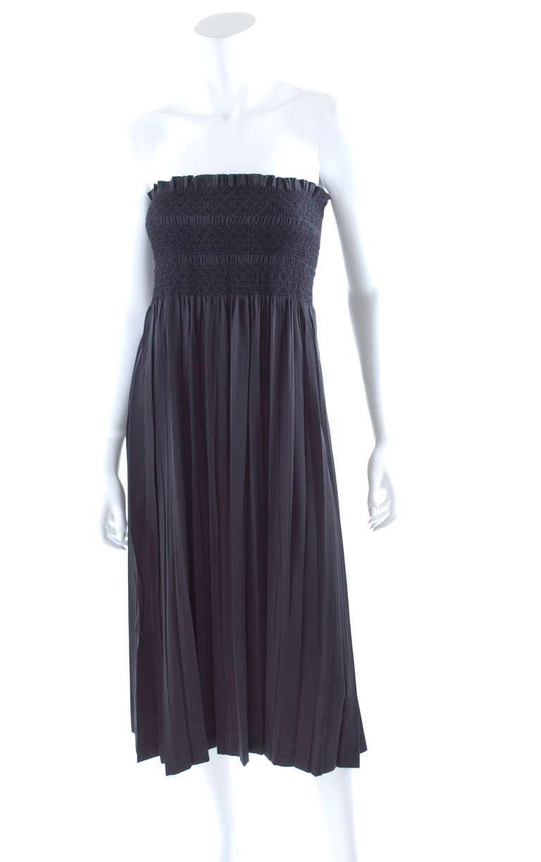 80's Issey Miyake Smocked and Pleated Dress or Long Skirt 4
