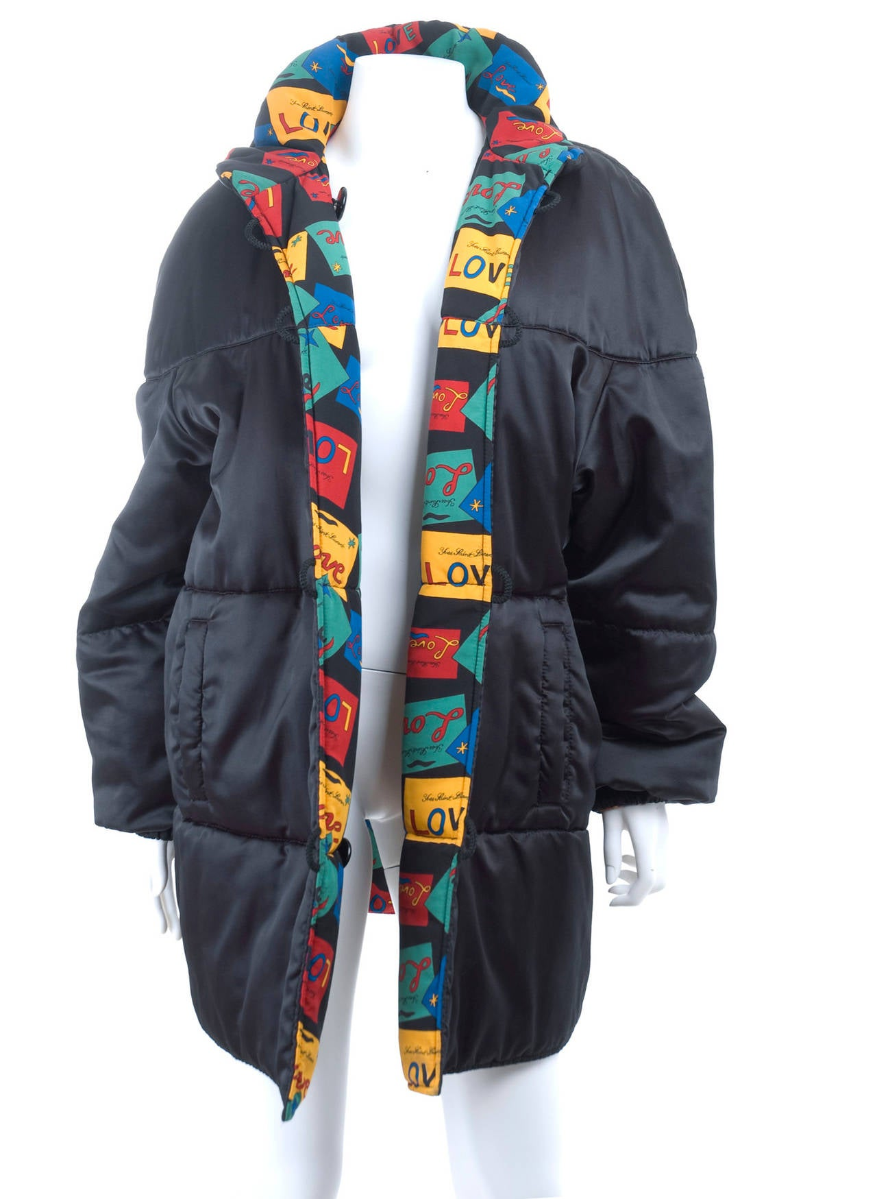 Yves Saint Laurent Reversible LOVE Puffer Jacket In Excellent Condition For Sale In Hamburg, DE