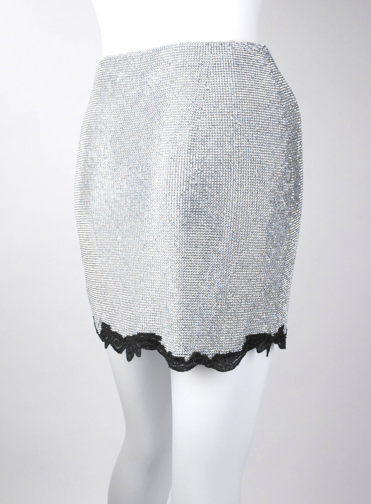 1996/97 Gianni Versace Couture Rhinestones Skirt as seen on Kate Moss 6