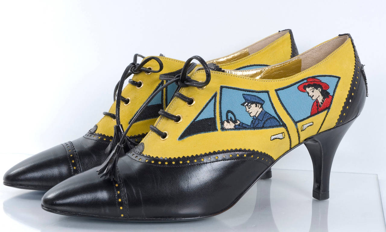 80's Moschino Car&Driver Shoe - unworn In New never worn Condition For Sale In Hamburg, DE