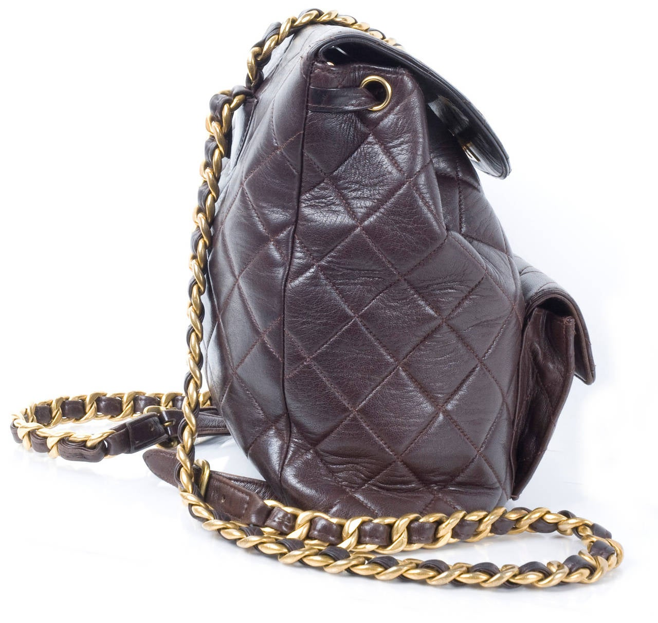 Chanel Brown Calf-Leather Backpack 3