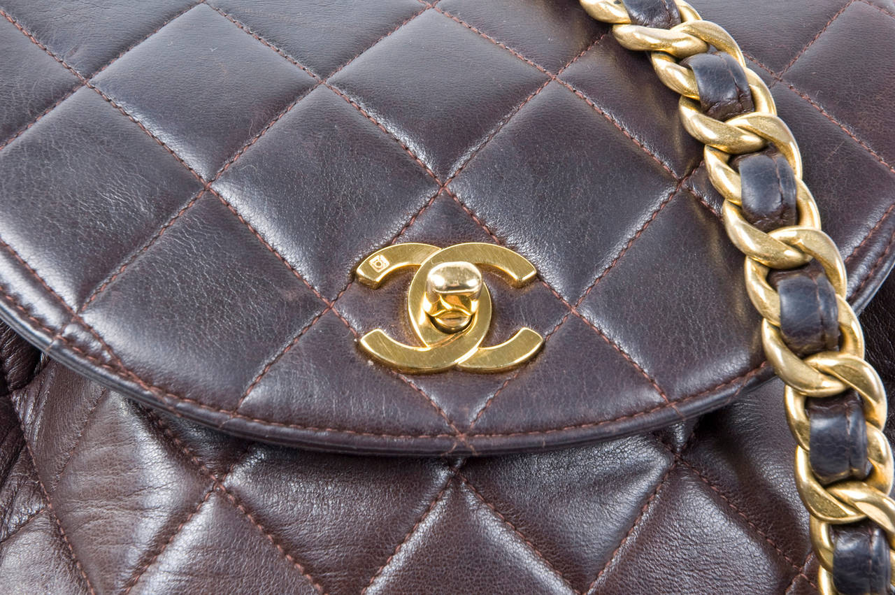 Chanel Brown Calf-Leather Backpack 6