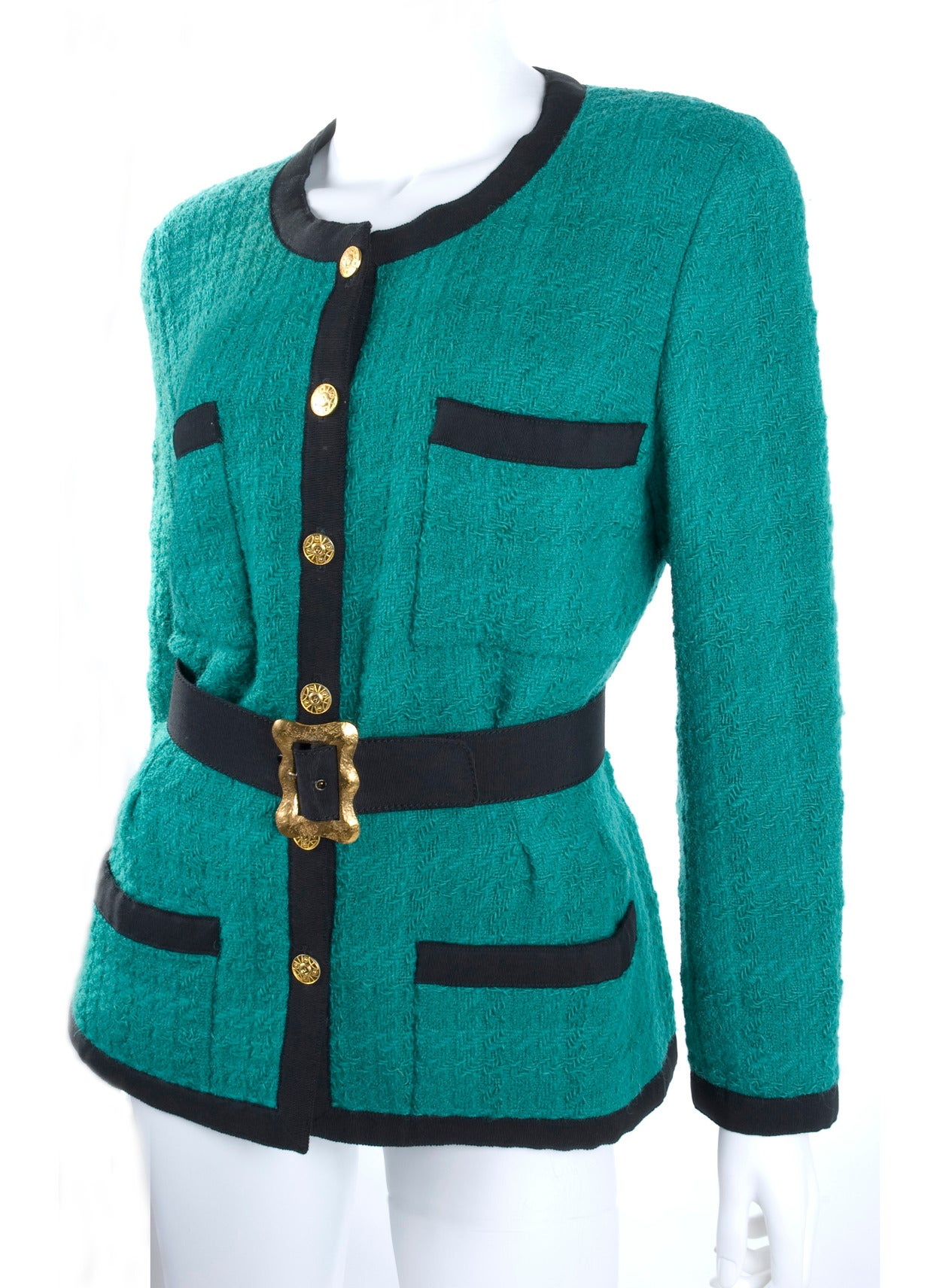 Chanel Jacket with Belt.
