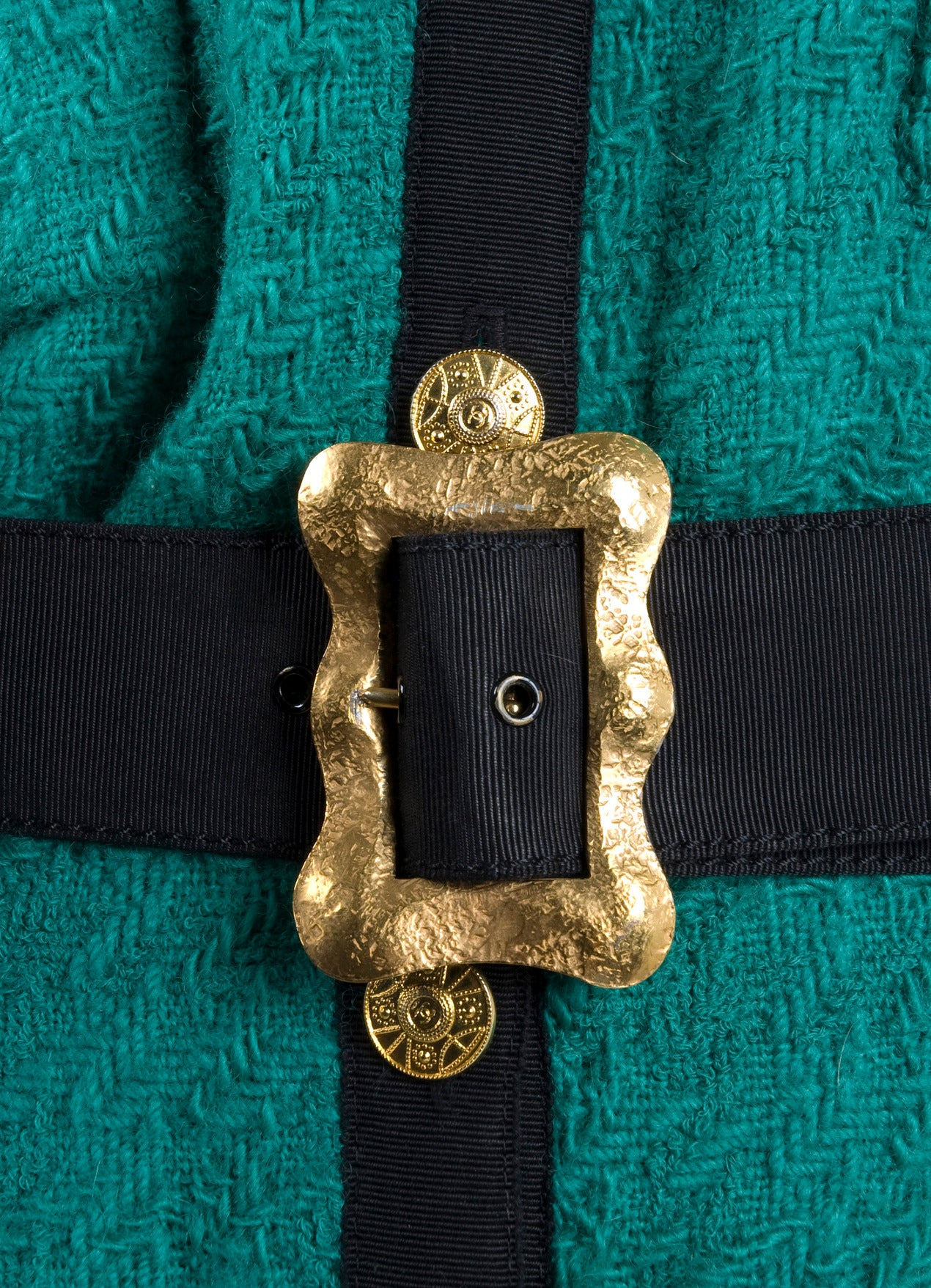 Blue Chanel Jacket with Belt For Sale