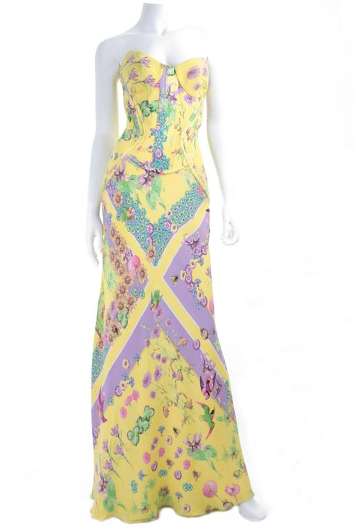 2004 Versace Silk Satin Gown 3