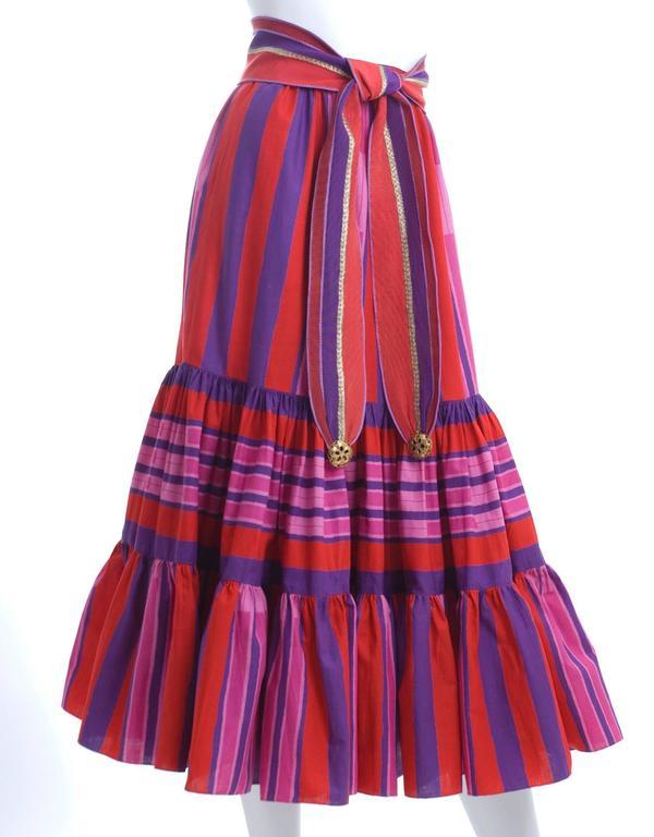 1979 Emanuel Ungaro Skirt and Belt In Excellent Condition For Sale In Hamburg, DE