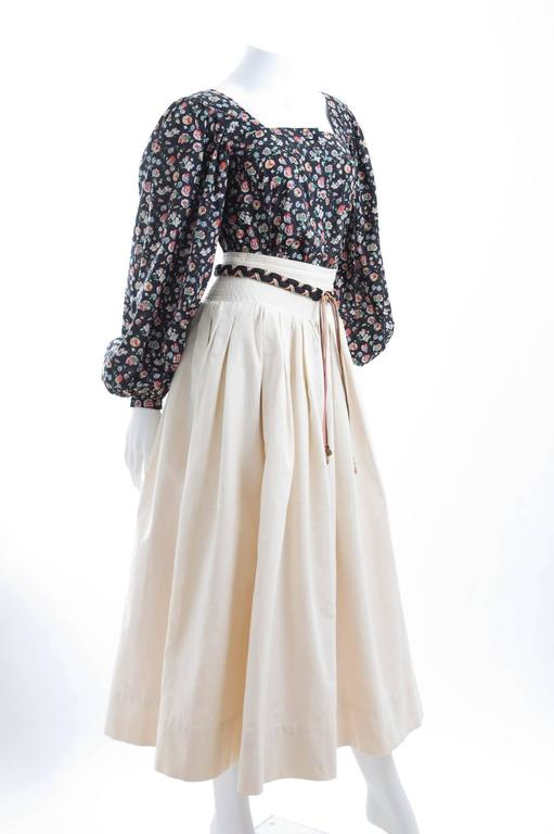 Yves Saint Laurent Gypsy Skirt and Blouse 2