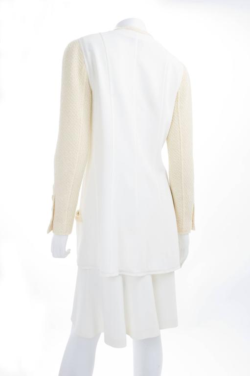 CHANEL Spaghetti Strap Dress & Jacket in Creme & Yellow 4