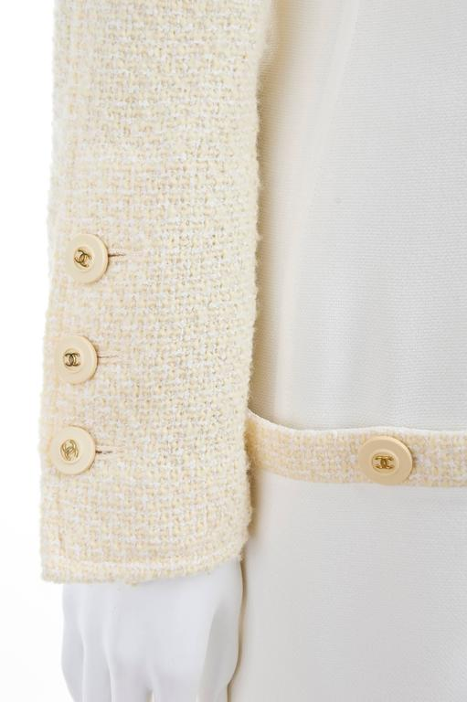 CHANEL Spaghetti Strap Dress & Jacket in Creme & Yellow 5