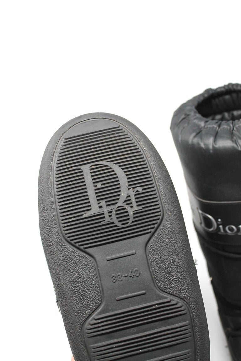 Dior Black Nylon Apres Ski Boots  For Sale 5