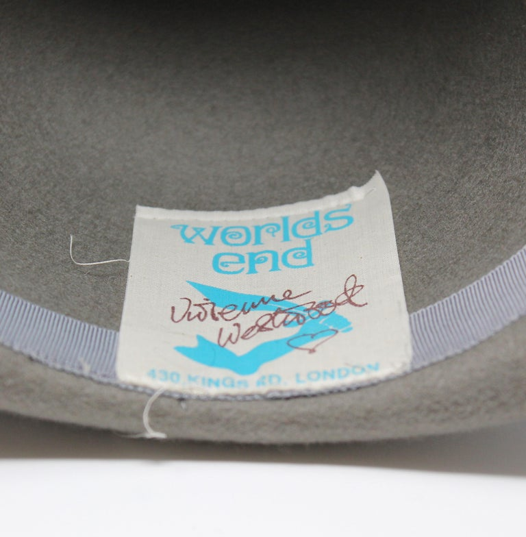 Vivienne Westwood Grey Pirate Hat, AW 1981 reissue, Size US M For Sale 1