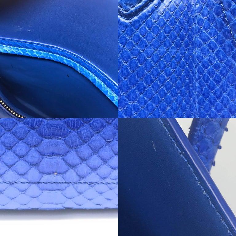 Celine Phantom Blue Python Bag For Sale 4