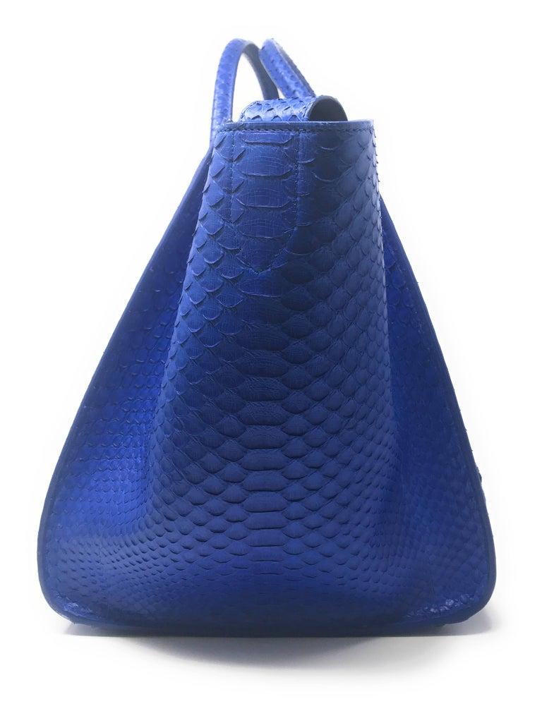 Celine Phantom Blue Python Bag For Sale 2